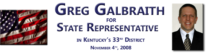 Greg Galbraith for Kentucky State Representative